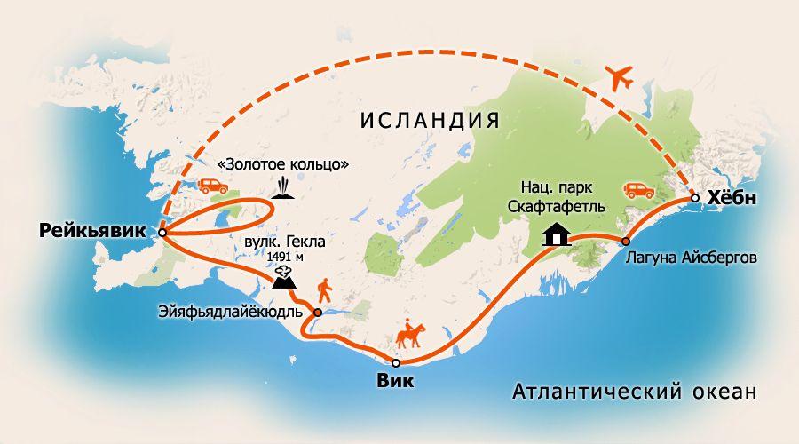 Схема маршрута: карта тура в