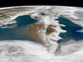 Космический снимок Камчатки