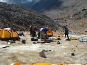 лагерь на траверсе выше Нандавана, Ганготри - Бадринатх