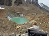 на траверсе ледника Суэта, треккинг Ганготри - Бадринадх