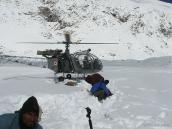 Экстренный военный вертолет, траверс Ганготри - Бадринадх