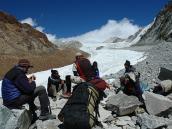 Путь к перевалу Калинди (6010 м), траверс Ганготри - Бадринадх