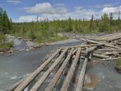 Остатки моста по дороге к Актру
