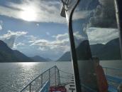 Переход на катере через Телецкое озеро