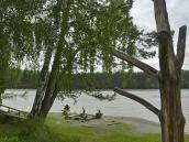 Река Катунь в нижнем течении. Горно-Алтайск.