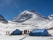 Штурмовой лагерь пика Дхампус. Треккинг в Непале, тур в Непал, Непал отдых, путешествие в Гималаи