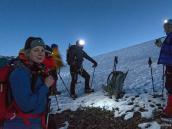 Начало восхождения на пик Дхампус - до рассвета. Треккинг в Непале, тур в Непал, Непал отдых, путешествие в Гималаи