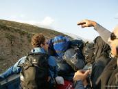 Восхождение на Демавенд, первый вид на вершину