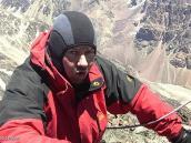 Фото из тура в Аргентину в 2006 году. Александр Глезеров выходит на вершину пика Валлеситос.