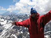 Фото из тура в Аргентину в 2006 году. Егор Чураков на вершине пика Валлеситос