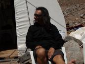 Фото из тура в Аргентину в 2012 году. Улиссе на плэнере в БЛ Архентина, Аконкагуа