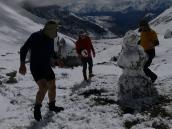 Фото из тура в Аргентину в 2012 году. Строительство высокогорной снежной бабы, Аконкагуа