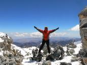 Фото из тура в Аргентину в 2006 году. В лагере Коллера при прекрасной погоде, высота 6000 метров.