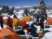 Фото из тура в Аргентину в 2006 году. Сборы перед днем штурма, Аконкагуа, 6000 м.