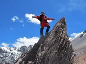 Фото из тура в Аргентину в 2006 году. Спуск с вершины Аконкагуа по классике