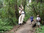 Фото из тура в Танзанию в 2005 году. Катание на лиане в лесу Мачаме.