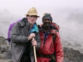 Фото из тура в Танзанию в 2005 году. Снимок на память с главным гидом.