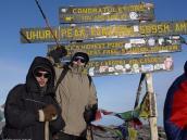Фото из тура в Танзанию в 2005. У вершинного тура Килиманджаро.