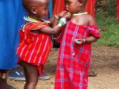 Фото из тура в Танзанию в 2005. Дети масаев.