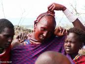 Фото из тура в Танзанию в 2005. Юноши масаев - молодые воины - мораны.