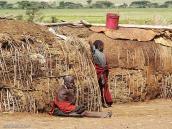 Фото из тура в Танзанию в 2005. В деревне масаев.