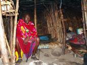Фото из тура в Танзанию в 2005. Масай у себя дома.