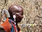 Фото из тура в Танзанию в 2005. Старуха из деревни масаев.