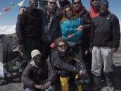 Фото из тура в Танзанию в 2009 году. Группа на вершине Килиманджаро - пике Ухуру (5895 м).