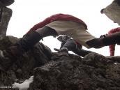 Фото из тура в Танзанию в 2011 году. Легкое скалолазание для акклиматизации на Лавовую Башню (4600 м), 100 метров над лагерем.