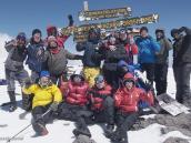 Фото из тура в Танзанию в 2011 году. На вершине Килиманджаро.