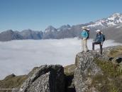 """Фото из тура в Новую Зеландию в 2010 году. """"Там за туманами..."""" Треккинг по тропе Рутберн, Новая Зеландия."""