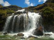 Фото из тура в Новую Зеландию в 2011 году. Мощные и бесподобные водопады Рутберн, Новая Зеландия.