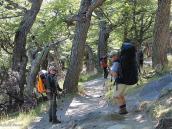 Фото из тура в Патагонию в 2012 году. Размер рюкзака джентельмена определяется количеством сопровождаемых им дам!