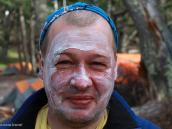 Фото из тура в Патагонию в 2012 году. Вот так тренируют лицо перед походом по палящему солнцу специалисты!