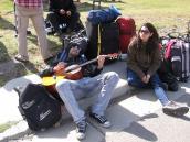 Фото из тура в Патагонию в 2012 году. Хиппаны в Эль Чалтене, Патагония.