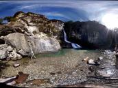 Фото из тура в Патагонию в 2012 году. Тот же водопад айфоном-4.