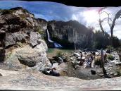 Фото из тура в Патагонию в 2012 году. Снимок водопада, сделанный айфоном-3.