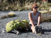 Фото из тура в Патагонию в 2012 году. Привал на тропе - это всегда приятно.
