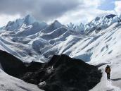 Фото из тура в Патагонию в 2012 году. Спуск с ледника Перито Морено, Патагония.