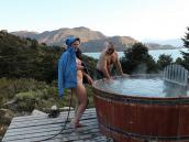 Фото из тура в Патагонию в 2012 году. В лагере Куэрнос. Супер-баня только для отважных ... На улице около нуля, а в воде - около 45 С!