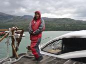 Фото из тура в Патагонию в 2012 году. Модник-экстремал перед стартом, Торрес дель Пэйн.