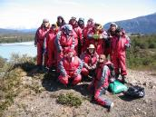 """Фото из тура в Патагонию в 2012 году. Группа в """"полосатых купальниках"""", Торрес дель Пэйн."""