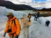 Фото из тура в Патагонию в 2012 году. Треккинг по леднику, Патагония.
