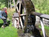 Фото из тура в Швейцарию в 2004 году. Водяная мельница в Триенте.