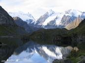 Фото из тура в Швейцарию в 2004 году. Кебана на озере Де Люви.