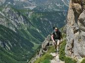 Фото из тура в Швейцарию в 2010 году. Горная тропа из Триента к перевалу Фенетр-д'Арпетт, Швейцария.