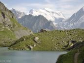 """Фото из тура в Швейцарию в 2010 году. Cabane de Louvie, ласково прозванный нами """"Кабан любви"""", и вершина Гран-Комбен, Швейцария."""