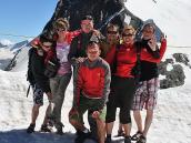 Фото из тура в Швейцарию в 2010 году. Заключительное фото на Малом Маттерхорне (3884 м), Швейцария.