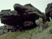Нависающая скала из когломерата возле Каранги