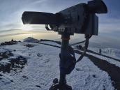 Вершина Килиманджаро, съемка timelapse восхода солнца над Мавензи.